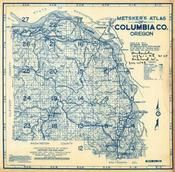 Index Map, Title Page, Columbia County 1956